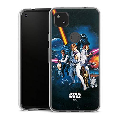 DeinDesign Silikon Hülle kompatibel mit Google Pixel 4a Case transparent Handyhülle Fanartikel Star Wars Episode IV