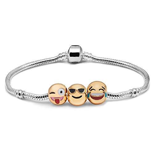 Shop-Story - Bracciale 3 emoticon placcato oro