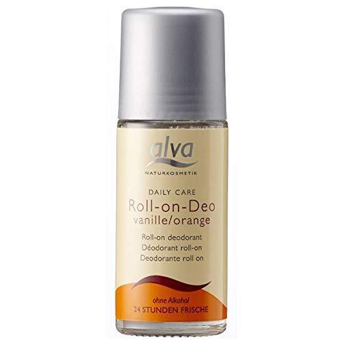 Alva Daily Care Organic Roll On Deodorant Vanilla & Orange - 50 ml