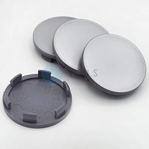 4 x YOU.S Nabenkappen Nabendeckel Felgendeckel 60,0-56,0 mm - silber