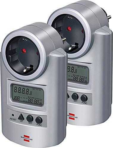 Brennenstuhl Energiemessgerät Primera-Line PM 231 E silber, 1506600 (2er Pack)