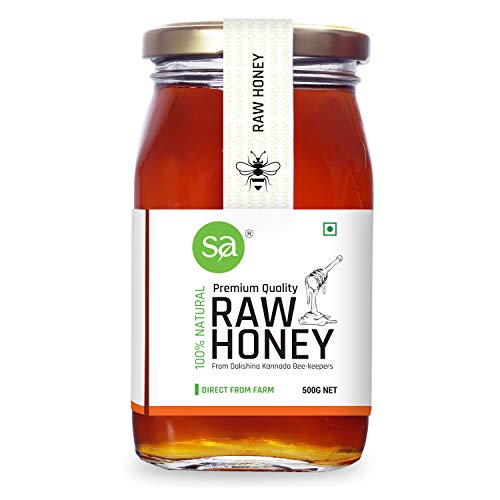 SAVAYAV Raw Honey 500g - Organic Unprocessed Unfiltered Pure Natural and Original Wild Forest Multi Flora Honey from Western Ghats
