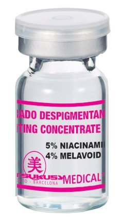 Depigmentierung Serum – Professionelles, steriles Serum für Microneedling (Dermapen) und Mesotherapie (Dermaroller) bei Hautverfärbungen, Pigmentflecken u. Altersflecken. Ampulle mit 5 ml