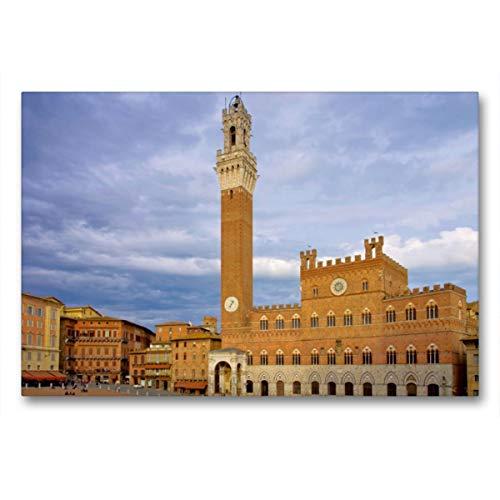 CALVENDO Premium Textil-Leinwand 90 x 60 cm Quer-Format Siena, Leinwanddruck von Thomas Polske