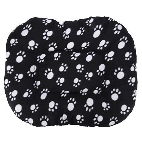 AMONIDA Cojín para Mascotas, Cojín Grueso para Mascotas Estera Suave para Mascotas Cómodo cálido para el Invierno para el otoño(Black)