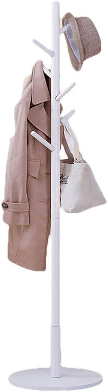 Solid Wood Coat Hook Living Room Hanger Wooden Coat Rack 2 colors (6 Hooks) Clothes Hook (color   White)