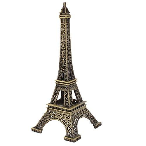 sourcing map Metall Eiffelturm Kunsthandwerk Vintage Stil Mini Eiffelturm Frankreichs Figur Statue Modell Ornament 5