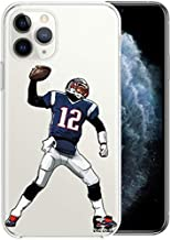 iPhone 11 Pro Max Case Epic Cases Ultra Slim Crystal Clear Football Series Soft Transparent TPU Case Cover Apple (Brady Goat, iPhone 11 Pro Max)
