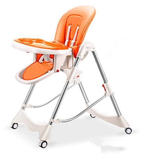 Household Necessities/baby kinderstoel eetstoel multifunctionele hoge stoel opvouwbare zitting kinderen dinet oranje Without Wheels