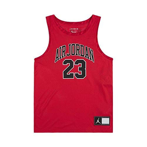 NIKE DNA Distorted Jersey Sleeveless Top, Hombre, Gym Red, L