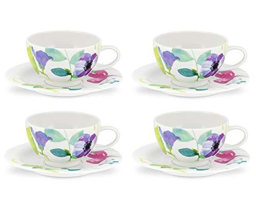 Portmeirion Water Garden Tasse mit Untersetzer, Set, Mehrfarbig, Farbe 4
