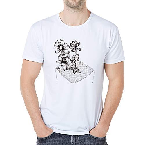 TWIFER Herren Karikatur Tier T-Shirt Kurzarm Baumwolle T-Shirt Mode Sommer Top