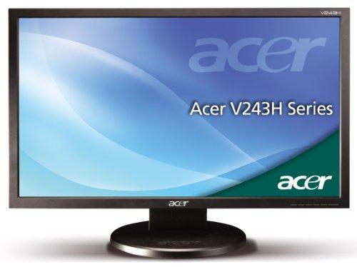Acer V243HAbd 61 cm (24 Zoll) TFT Monitor (LCD, DVI-D, VGA, 2ms Reaktionszeit) schwarz