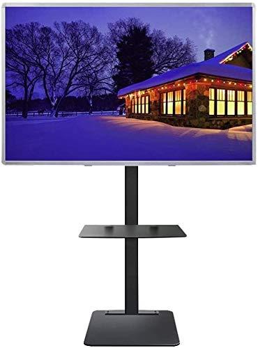 WJJ Soporte TV Pared Soporte TV Universal del Soporte de TV con el Almacenamiento, 32/40/42/43/49/50/55/60/65/70 Pulgadas televisores de Pantalla de Plasma/LCD/LED OLED Planas, Negro, Carga de 70