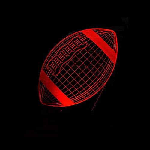 3D illusie LED nachtlampje kerstgeschenk 3D lamp rugby voetbal sport 3D lamp meerkleurige LED nachtlampje boot kerstcadeau illusie base tafel verlichting met afstandsbediening decoreren