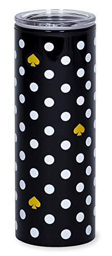 Kate Spade New York 16 Ounce Insulated Travel Mug Black Double Wall Thermal Tumbler for Coffee/Tea Polka Dots