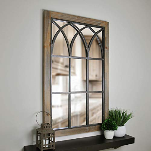 FirsTime & Co. Grandview Arched Window Mirror, 37.5