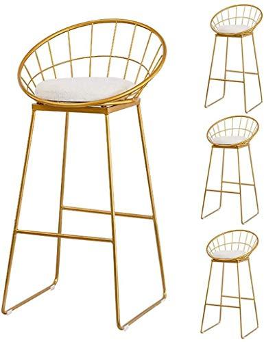 LJBXDCZ NJ barkruk barkruk, grijs linnen blik stof keuken ontbijt stoel hoogte kruk teller barkruk met rugleuning gewatteerde zitting voor Bistro Pub Cafe Huis - Set van 4 3.16