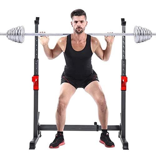 Entrenamiento de fuerza Peso Bastidores, Multi-Función Barra rack Dip base for el hogar aptitud de la gimnasia ajustable en cuclillas en rack Peso de elevación prensa de banco de estación de inmersión