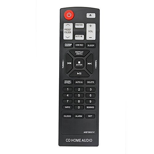 New AKB73655741 Replace Remote Control Applicable for LG CM4550 CMS4550F CMS4550W CM4350 CMS4350F CD Home Audio Mini Hi-Fi System