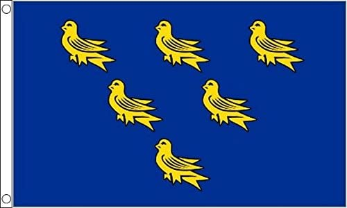 SUSSEX 5ft X 3ft Flag 75denier with eyelets suitable for Flagpoles