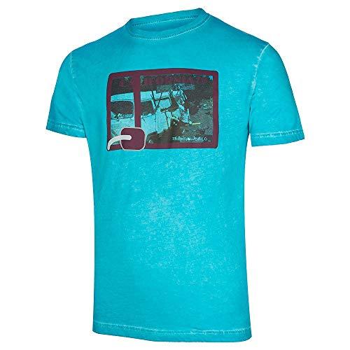 Trango Camiseta Ornia Tricot Homme, Bleu Capri, XL