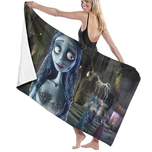 DJNGN Tim Burton 's Corpse Bride Toalla de Playa de algodón Toallas de baño absorbentes de Microfibra Toalla de Secado rápido Manta para Mujeres, niños y Hombres