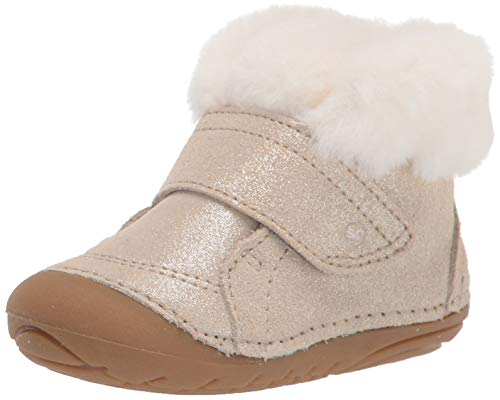 Stride Rite Baby Girls Soft Motion Sophie Fashion Boot, LIGHT GOLD, 3.5 Wide Infant