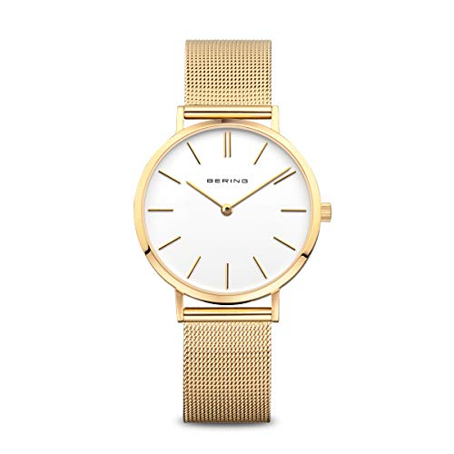 BERING Damen-Armbanduhr Analog Quarz Edelstahl 14134-331
