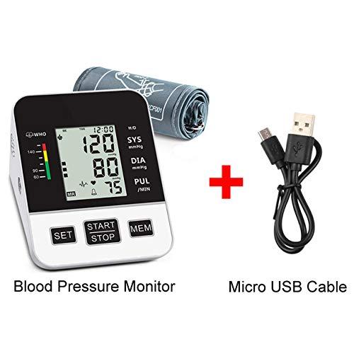 Bovenarm Bloeddrukmeter Grote Manchet Voor Ondersteuning Van Bloeddruk En Hartslagpuls 2 X 99 Herinneringen Voice-Uitzending USB-Opladen Thuisgebruik