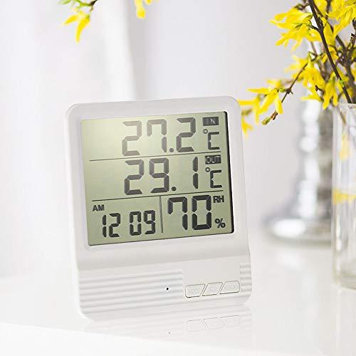 YALTOL Digital Thermometer Hygrometer Termometro Wecker Temperatur Luftfeuchtigkeit Tester Innen- / Außenwetterstation Diagnose-Tool
