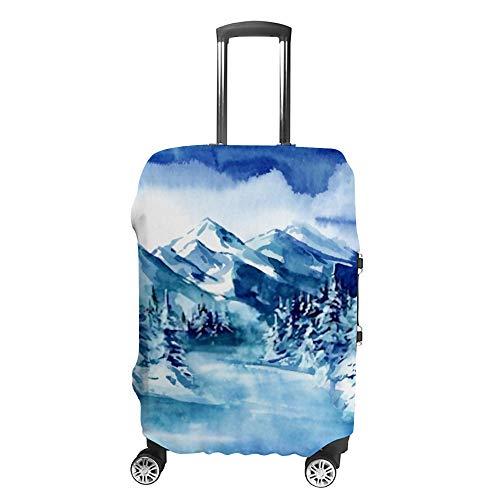 HAOXIANG Reisegepäck-Abdeckung, Kofferschutz, geeignet für Gepäck, Wintergebirge, Landschaft