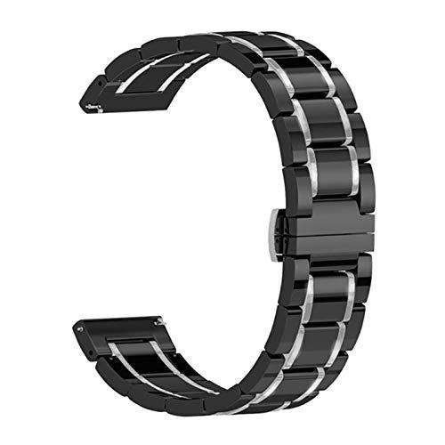 WSGGFA Correa de cerámica para la Banda de Reloj de Apple 44mm 40 mm 42mm 38mm Accesorios Accesorios de Mariposa de Acero Inoxidable Pulsera de Hebilla para iWatch Series 6 SE 5 4 3
