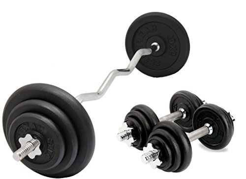 4ft Chrome EZ Super Curl Barbell Standard 1 Inch Easy Preacher Curl Weight Bar with Spring Collars Body Revolution EZ Bicep Curl Bar