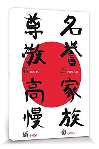 1art1 Motivation - Respekt, Ehre, Stolz, Familie Bilder Leinwand-Bild Auf Keilrahmen   XXL-Wandbild Poster Kunstdruck Als Leinwandbild 30 x 20 cm