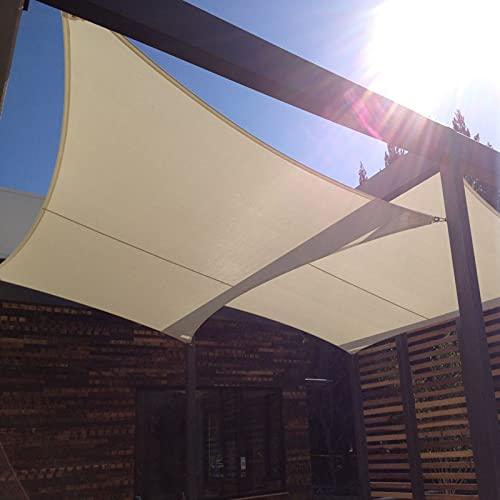 EMMORLA Tende da Sole per Esterno Impermeabile 2×3 m Vela Ombreggiante Rettangolare Tenda da Vela Parasol Protezione UV Tenda a Vela per Giardino Balcone Terrazza Campeggio Esterno, Beige