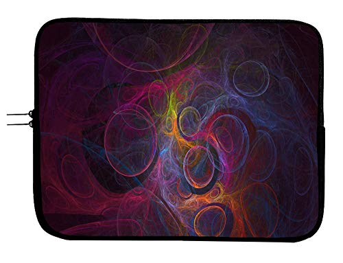 Brand3 Psychedelic Laptop Sleeve Case Padded Laptop Sleeve Case Protector 13 13.3 Inch Mac Book Pro Case Sleeve/MacBook Air Surface Pro Laptop/Tablet Water Repellent Neoprene Cushioned Case