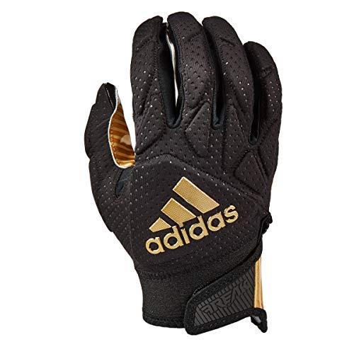 adidas Freak 5.0 Padded Football Receiver Glove, Black Metallic Gold, Large