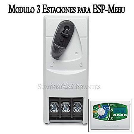 R.Bird - Modulo ampliación 3 Estaciones de riego para Programador eléctrico ESP MEEU 4 Estaciones.