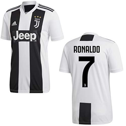 Adidas, maglia da calcio della Juventus Torino, 20182019, Ronaldo 7, per uomini ebambini, Ronaldo, L