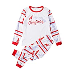 Note: Styles for the Whole Family. Pajamas set comes in sizes for adults, kids, toddlers and infants. Please purchase each size individually; Matching pajamas sets are sold separately. Material: Cotton blend, soft and comfortable, breathable and ligh...