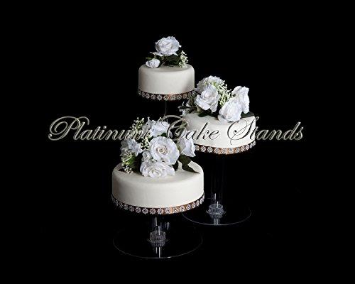 3 Tier Cascade Wedding Cake Stand XL (STYLE R304)