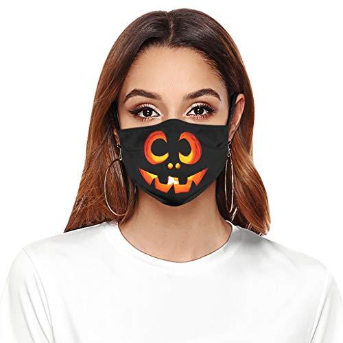 Shiningwe 1 Stück + 2 Filter Unisex Erwachsene Lustige Halloween Mund Nase Cover, waschbares...