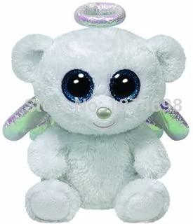 Beanie Boos Halo Angel Bear White 15cm/6'' Kawaii Ty Big Eyed Suffed Animal Soft Toys