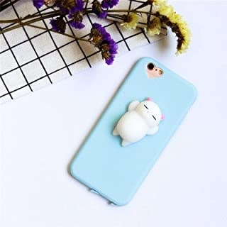 AliPlus iPhone X Case, Squishy White Cat 3D Soft Cute Silicone TPU Protective Phone Case for Apple iPhone X 5.8 inch Blue