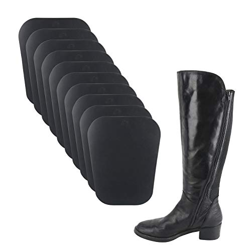 "Homend 5 Pairs (10 Sheets) Boot Shaper Form Inserts Boots Tall Support for Women and Men (5 Pairs Black; 12"" Length)"