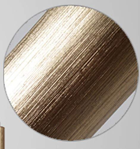 5151BuyWorld lamp H50 cm moderne LED hanglamp goud zilver keuken cilinder slang, hanglamp voor eetkamer hoogwaardige kwaliteit {geborsteld goud & diameter 3 x 50 cm}