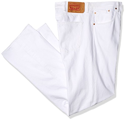 Levi's Men's Big and Tall 501 Original Shrink-to-Fit Jean, Optic White, 64W x 34L