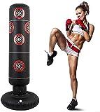 Ducomi Greg - Saco de boxeo inflable – Entrenamiento boxeo, kick boxing, fitboxe –...