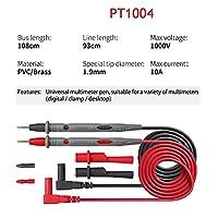 鉛テストキット 1000 V 10A 20A薄型チップニードルデジタルマルチメータマルチメートルリードプローブワイヤペンケーブルマルチメータ マルチメータテストリード (Color : White)